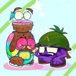 Luau and Sarge by 763Lilypadpandaowl