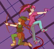 Mindy and yui attack by dokidokitsuna
