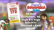 Papa's Scooperia To Go! All Gold Customers, All Style B & Style H Outfits Unlocked + Final Parade
