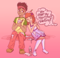 Valentine's Day - Alberto and Penny by magicmusic and PepperMintLeaf