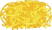 Shredded Cheddar Transparent - Cheeseria.png