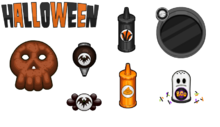 Halloween toppings donuteria by amelia411-d7nob3s.png