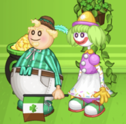 Mayor Mallow and Sprinks the Clown