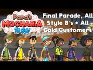 Papa's Mocharia To Go!- Final Parade, All Style B's + All Gold Customers