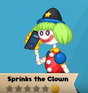 Sprinks talking on the phone