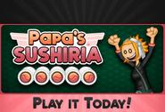 Play it today! Papa's Sushiria