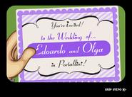Romano Wedding Invitation in the mail