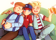 Big pauly and roy and marty by lemonade813-d9k22fi