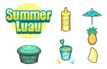 Cupcakeria HD - Summer Luau Toppings.png