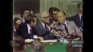 """CIA """"Heart Attack Gun"""" Revealed at Senate Testimony of Director William Colby (Sept"""