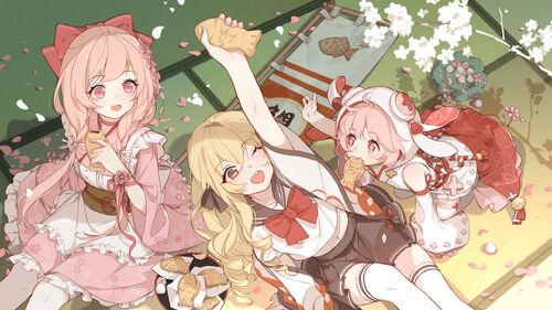 Loading Screen-Sakuramochi, Strawberry Daifuku, Taiyaki