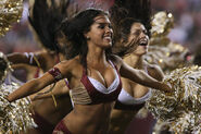 Washington Redskins cheerleader @ game vs New England Patriots 13