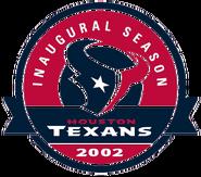 Houston Texans - 2002 Inaugural Season Patch