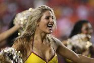 Washington Redskins cheerleader @ game vs New England Patriots 10