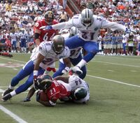 Tackle during the 2006 Pro Bowl in Hawaii
