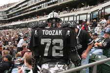 A fan of the Oakland Raiders