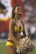 Washington Redskins cheerleader @ game vs New England Patriots 09