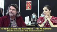 For All Mankind - Ronald D Moore and Maril Davis Interview (New York Comic Con)