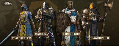 For Honor Peacekeeper Warden Conqueror Lawbringer.jpg