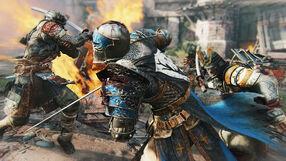 Two samurai vs knight - for honor.jpg