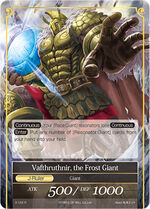 Vafthruthnir, the Frost Giant, a J-Ruler from the Valhalla Cluster, and also the J-Ruler form of Monument of Wisdom.