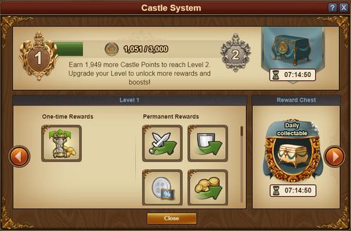 Castle System Screen