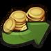 Reward icon boost icon coin