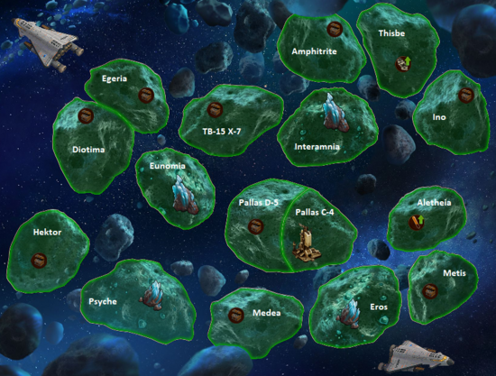 The Space Age Asteroid Belt Map