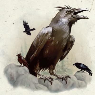Giant raven
