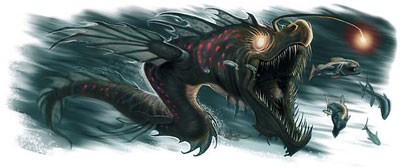 Shadow sea serpent