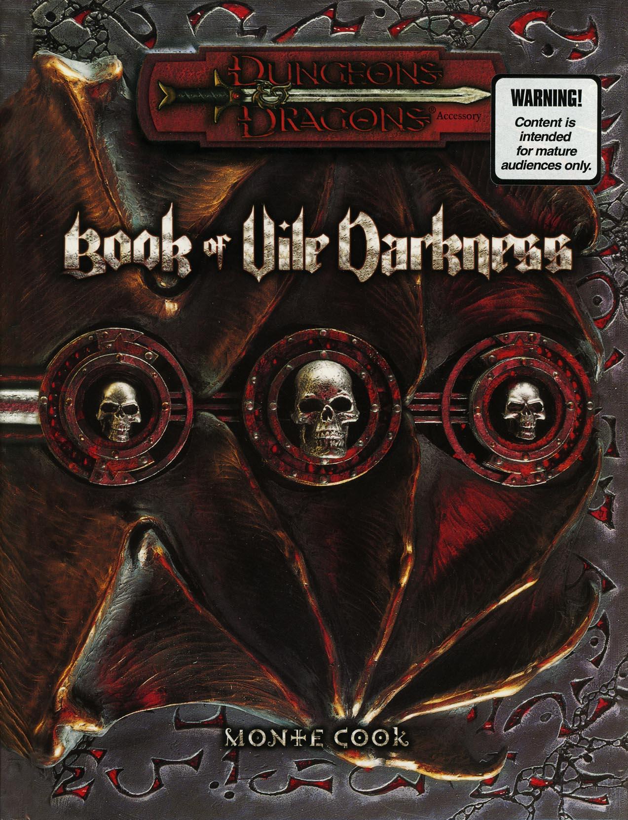 Book of Vile Darkness (sourcebook)