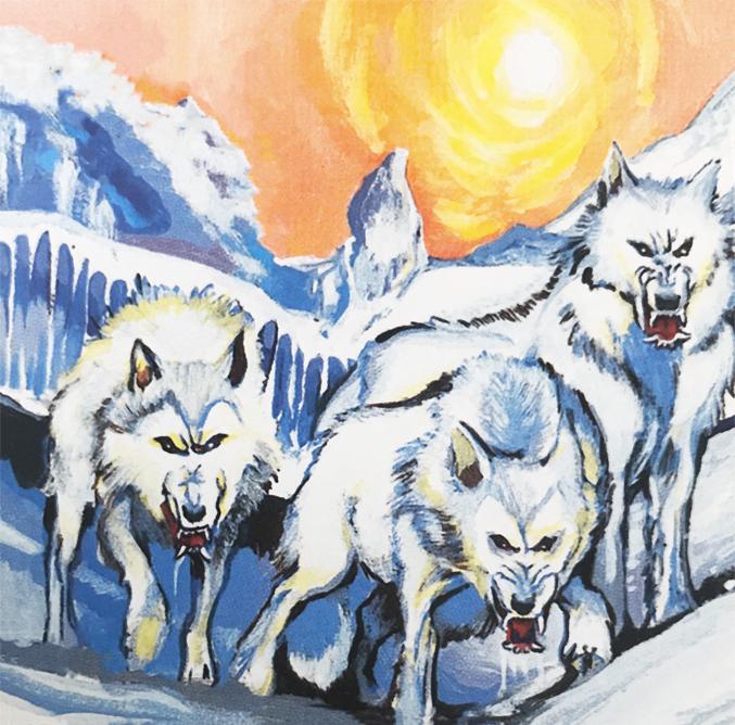 Winter wolves love bites