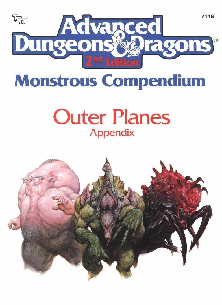 Monstrous Compendium: Outer Planes Appendix