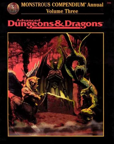 Monstrous Compendium Annual Volume Three