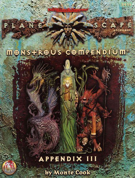 Monstrous Compendium Planescape Appendix III
