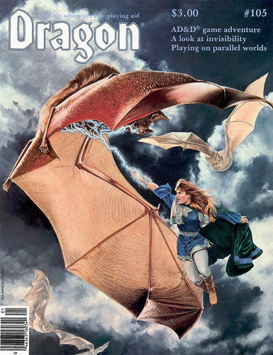 Dragon issues from 1986