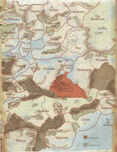 Political Boundaries-east Faerûn-1372DR