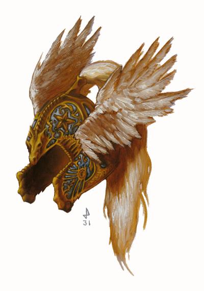 Pegasus helm of Kloeth Ironstar