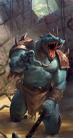 Lizardfolk blue