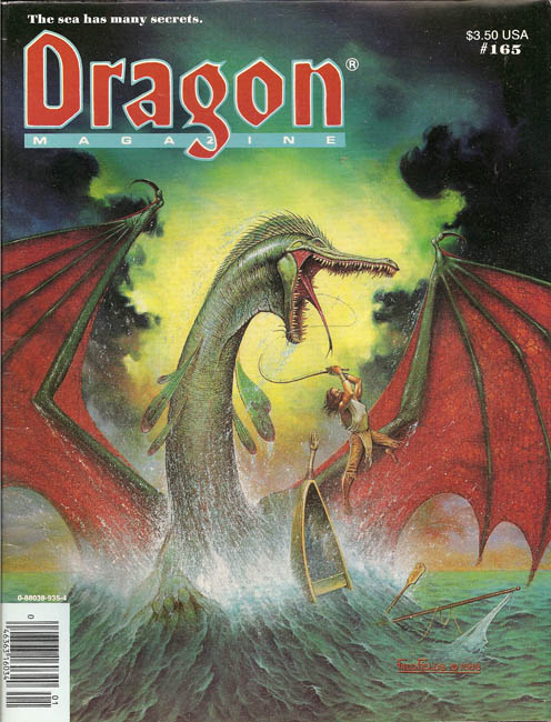 Dragon issues from 1991