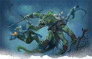 Sea elf and sahuagin-5e