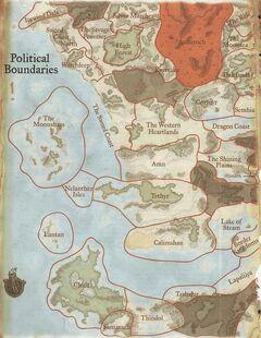 Political Boundaries-west Faerûn-1372DR