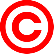 197px-Red copyright svg