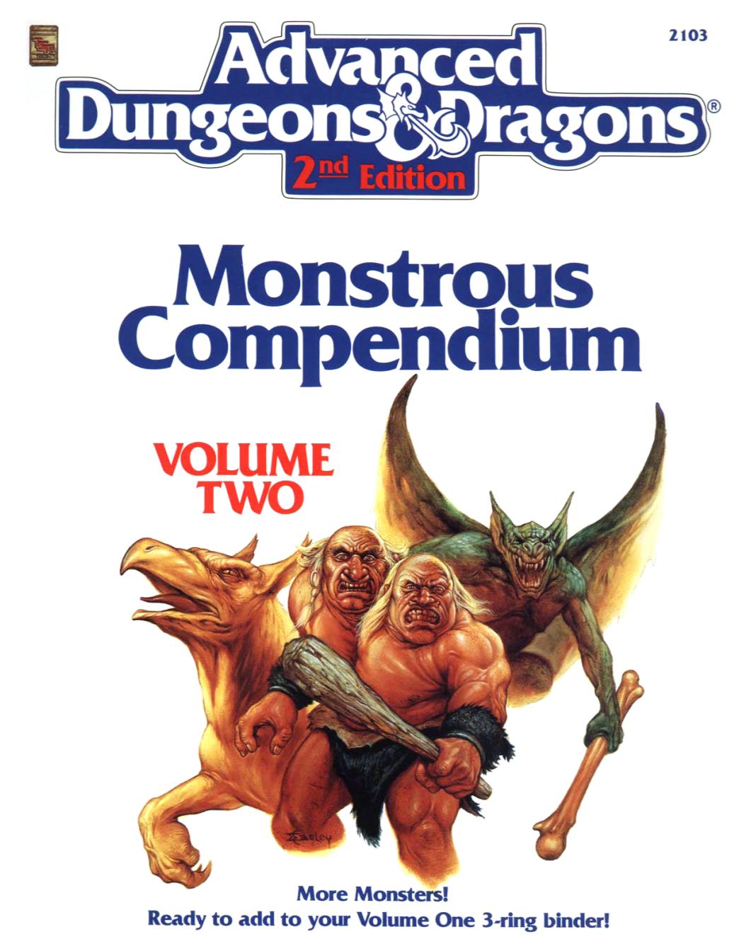 Monstrous Compendium Volume Two