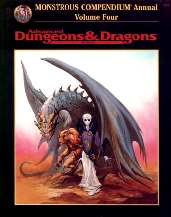 Monstrous Compendium Annual Volume Four
