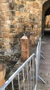 D&D movie Alnwick Castle plinths
