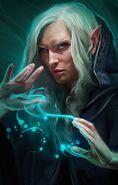 Female elf wizard bgee