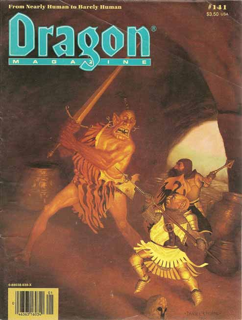 Dragon issues from 1989