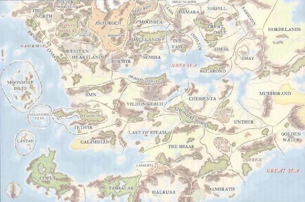 Political boundaries of Faerûn