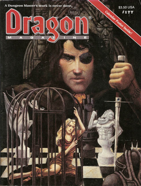 Dragon issues from 1992